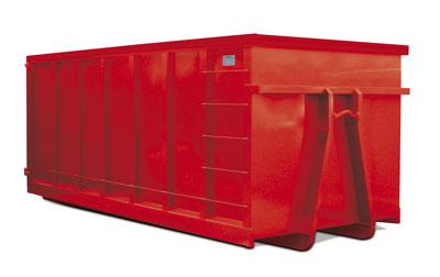 Apto para residuos de densidad muy baja que además el lugar de producción esté a cierta distancia. Es también necesario que se disponga de amplio espacio para instalarlo, debido a la maniobra del camión.  MEDIDAS: 6.5 X 2.5 X 2..5
