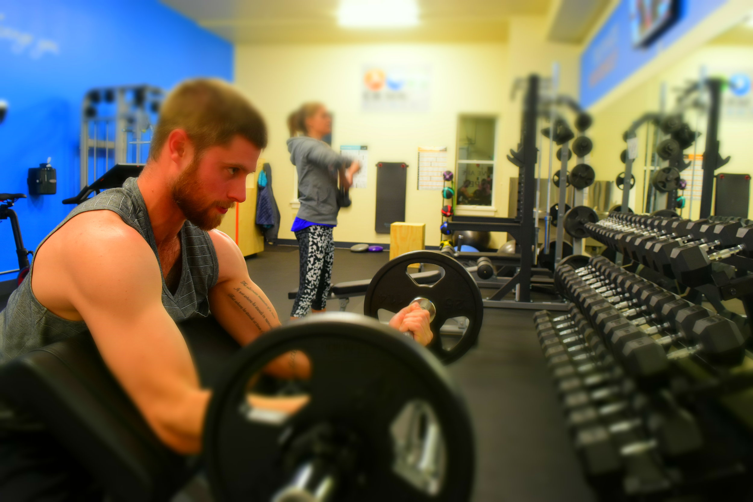 Eric and Kristin lifting gym gym fitness fitness cardio strength training workouts crested butte colorado.JPG