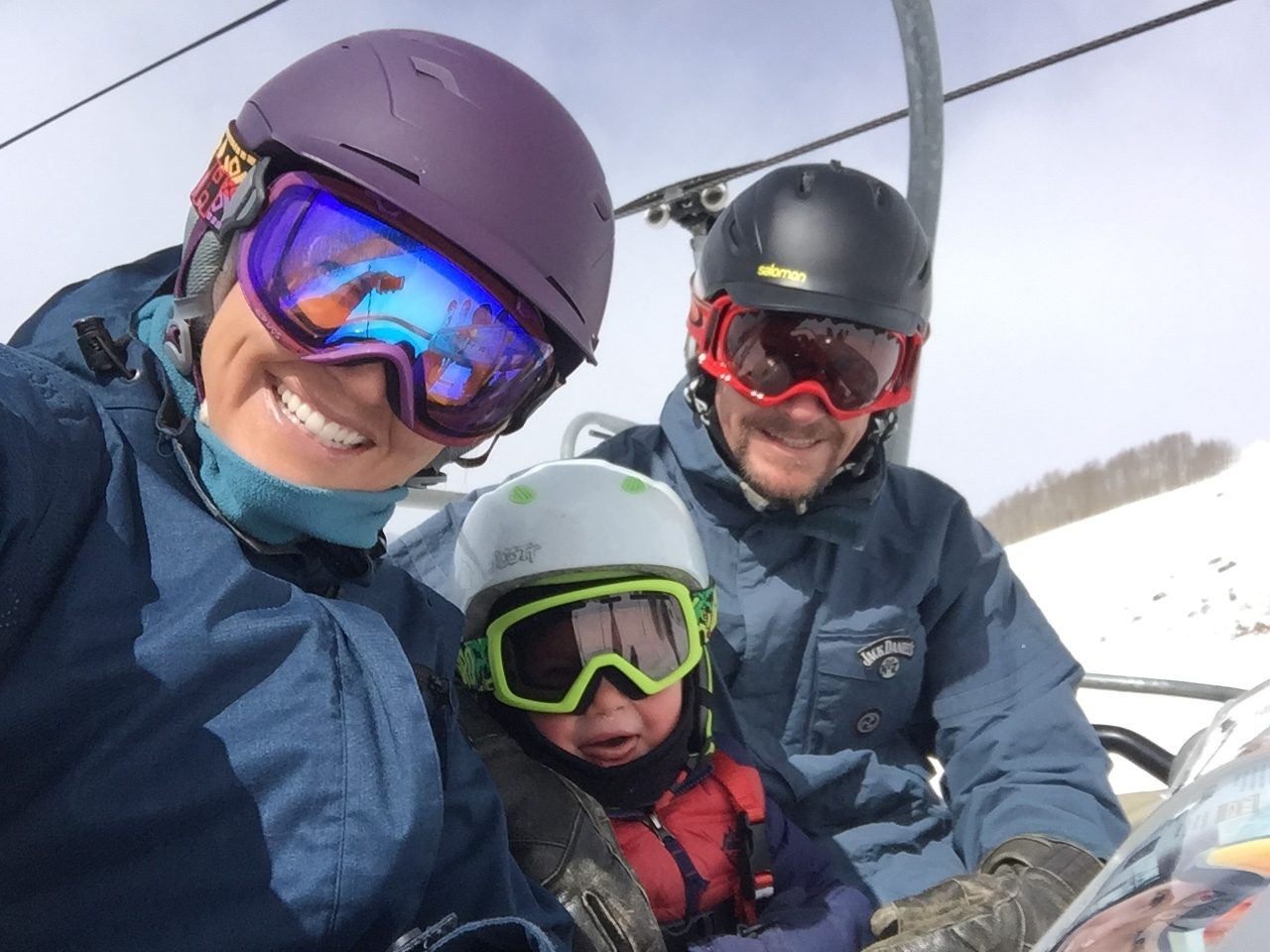 Skiing with the family.  This was Keiran's first day up Red Lady chairlift and he was so excited!