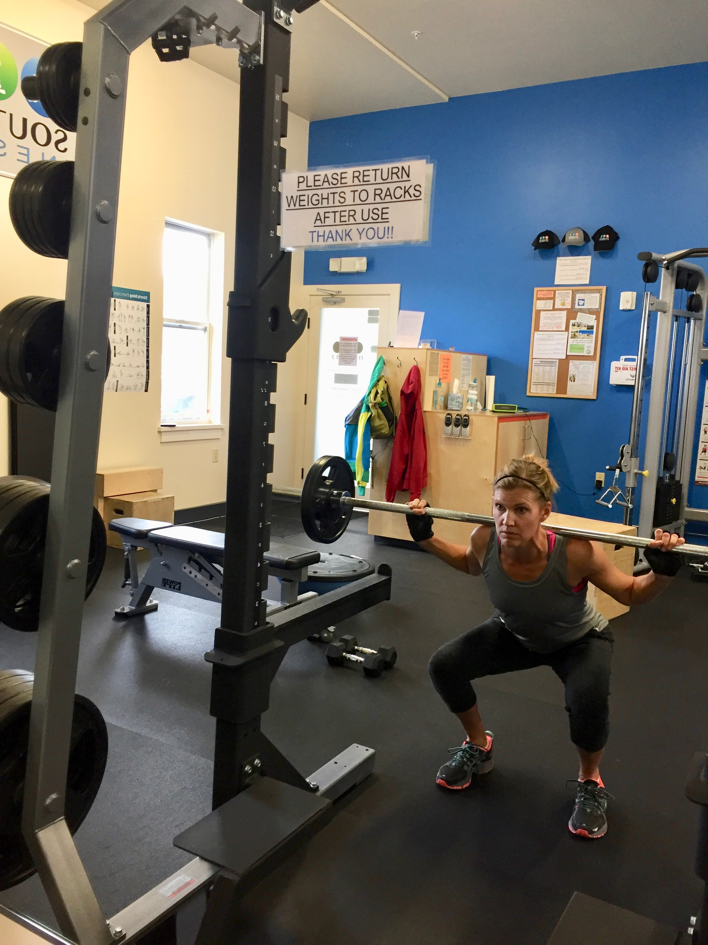 kristin at the best gym in crested butte cb south fitness exercise and workout