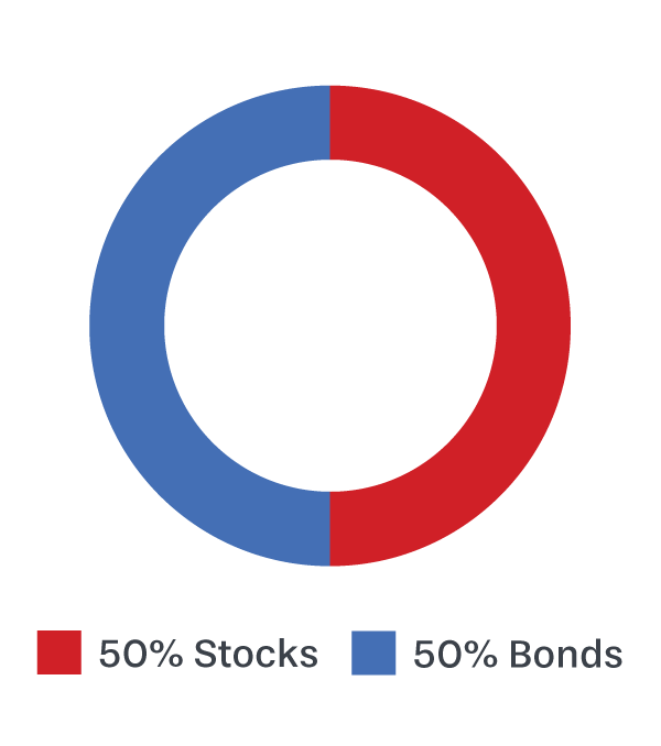 ABLE Moderate: 50% Stocks, 50% Bonds