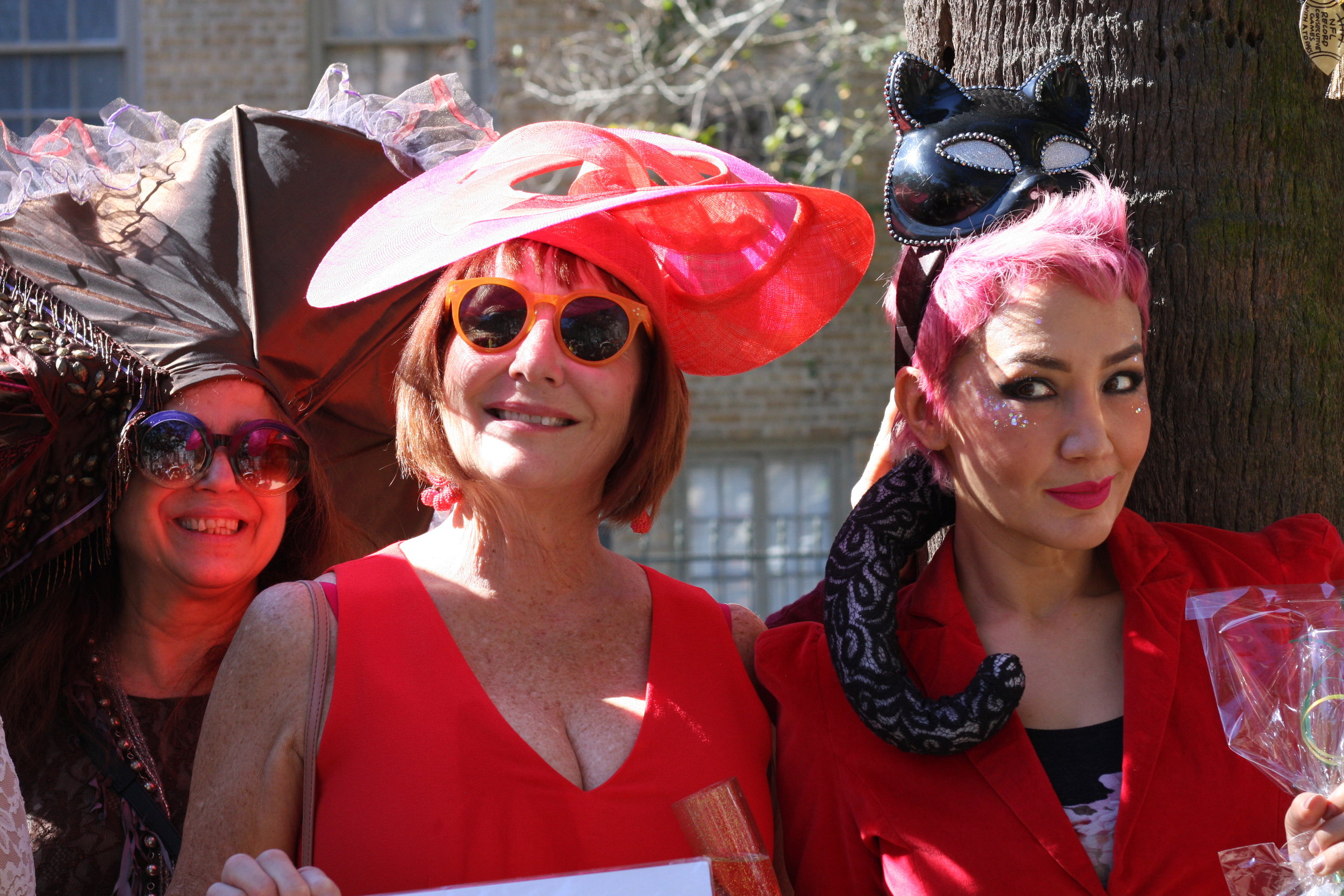 Best Hat Winner: Janet Noble (middle)