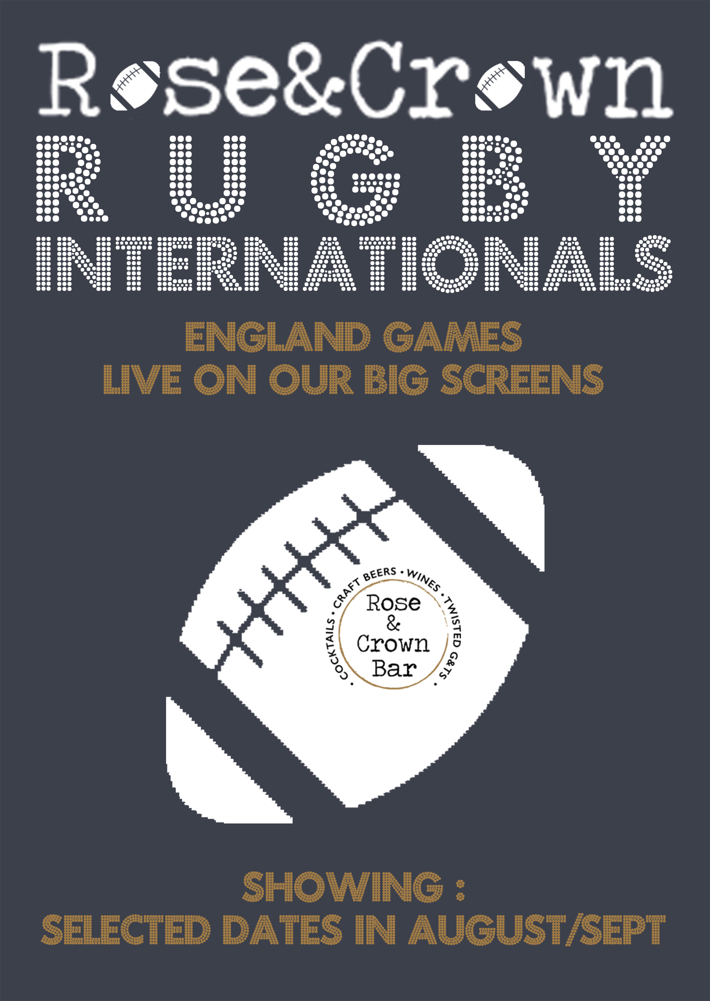 SHOWING ALL GAMES LIVE ON OUR BIG SCREEN… -