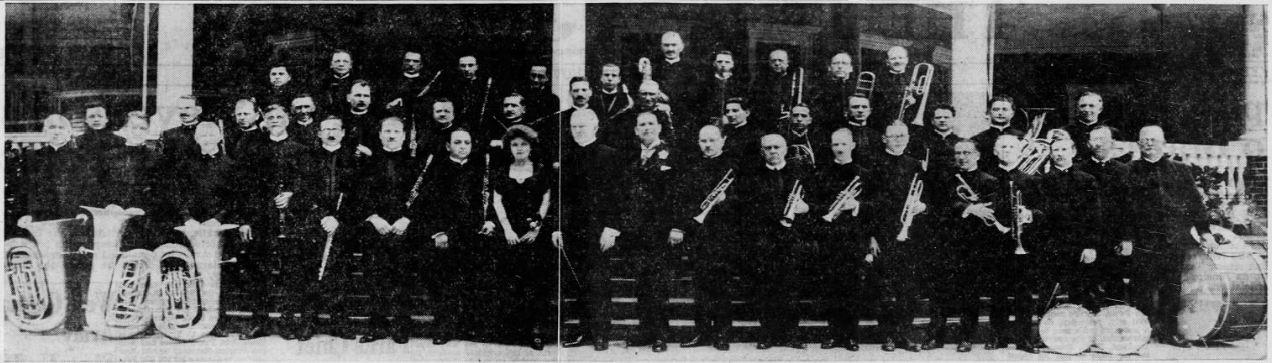 The Conway Band, ca. 1923-1924, from the  Ithaca Journal,  November 12, 1955