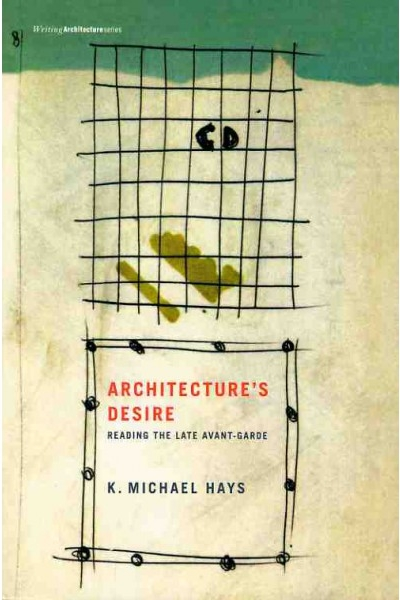"Architecture's Desire:   Reading the Late Avant-Garde   by K. Michael Hays    While it is widely recognized that the advanced architecture of the 1970s left a legacy of experimentation and theoretical speculation as intense as any in architecture's history, there has been no general theory of that ethos. Now, in  Architecture's Desire , K. Michael Hays writes an account of the ""late avant-garde"" as an architecture systematically twisting back on itself, pondering its own historical status, and deliberately exploring architecture's representational possibilities right up to their absolute limits. In close readings of the brooding, melancholy silence of Aldo Rossi, the radically reductive ""decompositions"" and archaeologies of Peter Eisenman, the carnivalesque excesses of John Hejduk, and the ""cinegrammatic"" delirium of Bernard Tschumi, Hays narrates the story of architecture confronting its own boundaries with objects of ever more reflexivity, difficulty, and intransigence."