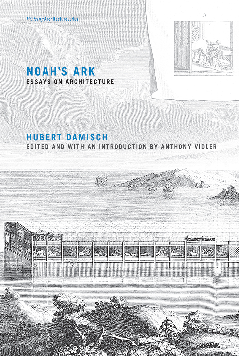 "Noah's Ark: Essays on Architecture   by Hubert Damisch   Edited and with an introduction by Anthony Vidler   Trained as an art historian but viewing architecture from the perspective of a ""displaced philosopher,"" Hubert Damisch offers a meticulous parsing of language and structure to ""think architecture in a different key,"" as Anthony Vidler writes in the introduction. Drawn to architecture because it provides ""an open series of structural models,"" Damisch examines the origin of architecture and then its structural development from the 19th through the 21st centuries. He leads the reader from Jean-François Blondel to Eugène Viollet-le-Duc to Mies van der Rohe to Diller + Scofidio, with stops along the way at the Temple of Jerusalem, Vitruvius's  De Architectura , and the Louvre, thus tracing a unique trajectory of architectural structure and thought."