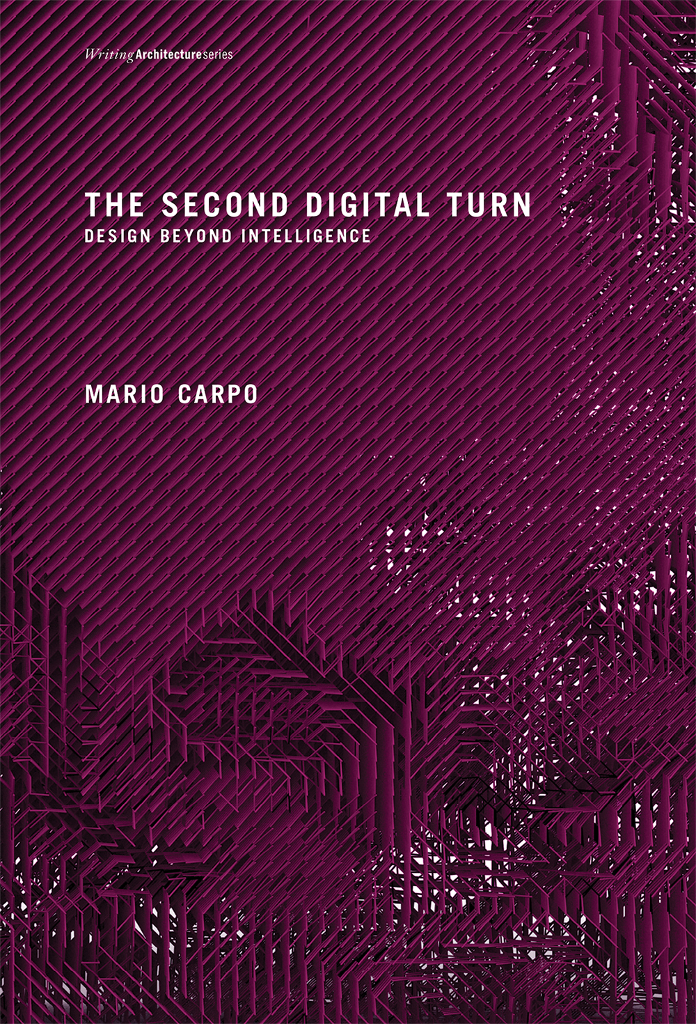 The Second Digital Turn: Design Beyond Intelligence                         by Mario Carpo  Almost a generation ago, the early software for computer aided design and manufacturing (CAD/CAM) spawned a style of smooth and curving lines and surfaces that gave visible form to the first digital age, and left an indelible mark on contemporary architecture. But today's digitally intelligent architecture no longer looks that way. In  The Second Digital Turn , Mario Carpo explains that this is because the design professions are now coming to terms with a new kind of digital tools they have adopted—no longer tools for making but tools for thinking. In the early 1990s the design professions were the first to intuit and interpret the new technical logic of the digital age: digital mass-customization (the use of digital tools to mass-produce variations at no extra cost) has already changed the way we produce and consume almost everything, and the same technology applied to commerce at large is now heralding a new society without scale—a flat marginal cost society where bigger markets will not make anything cheaper. But today, the unprecedented power of computation also favors a new kind of science where prediction can be based on sheer information retrieval, and form finding by simulation and optimization can replace deduction  from mathematical formulas. Designers have been toying with machine thinking and machine learning for some time, and the apparently unfathomable complexity of the physical shapes they are now creating already expresses a new form of artificial intelligence, outside the tradition of modern science and alien to the organic logic of our mind.