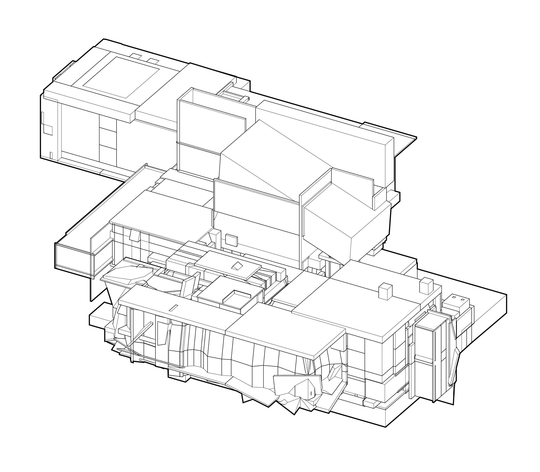 An Exhaustive Extraction of the Axonometric Space of Each Level of Quake 2, Stephen Turk