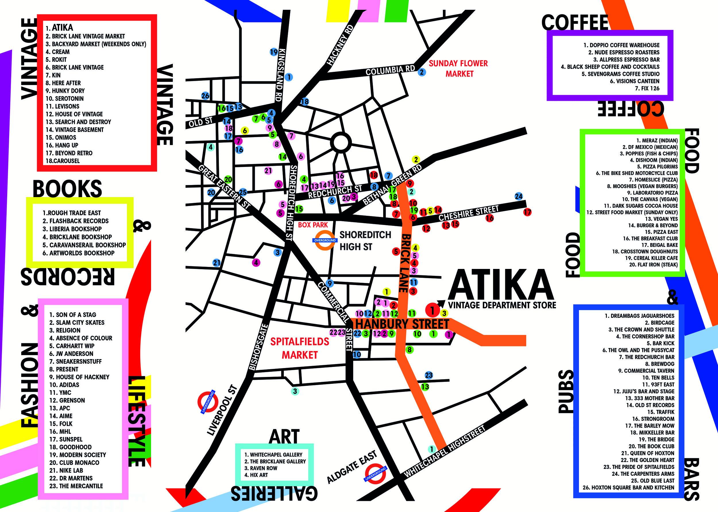 ATIKA SHOREDITCH MAP