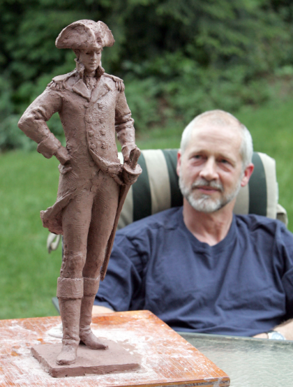 """It's a little Hollywood at this point,"" sculptor Jim Barnhill said about the maquette of Gen. Nathanael Greene. ""We have to get it more accurate."""