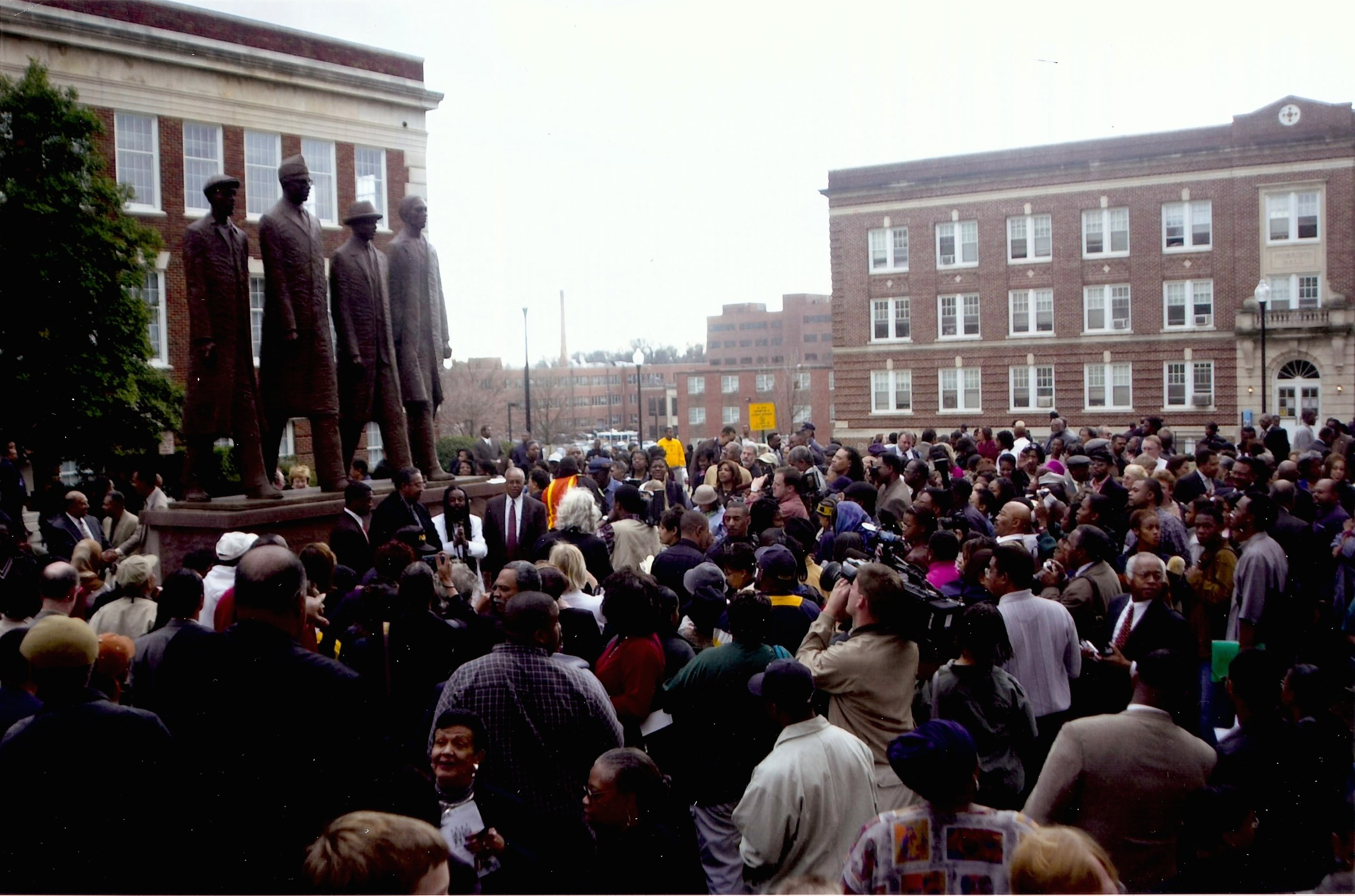 "Unveiling of ""February One"" at A&T University, Greensboro NC, 2002"
