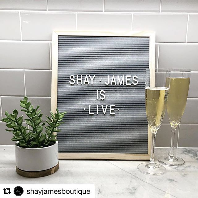 So excited for my friends @ash_mal22 @wisebre13 and @jlprice06 and their brand new online boutique @shayjamesboutique! Today is their official launch day and I can't wait to go shopping!! If you haven't already go check out there Instagram and website for the cutest on trend clothes!  #Repost @shayjamesboutique with @get_repost ・・・ IT'S HERE - SHAY + james is officially LIVE! Go grab some mimosas and shop your hearts out! We hope you love it all! CHEERS to a new beginning (and a new closet!) 🥂 #shayjamesboutique #onlineshopping #onlineboutique #fashion