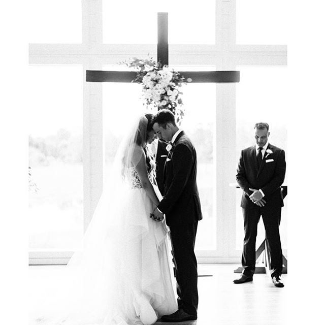 """""""Therefore what God has joined together, let no one separate."""" Mark 10:9  This beautiful bride wanted to have some representation of the church to her ceremony space and our cross was perfect! This moment is everything!! Venue: The Farmhouse 📷: Katy Cox Photography"""