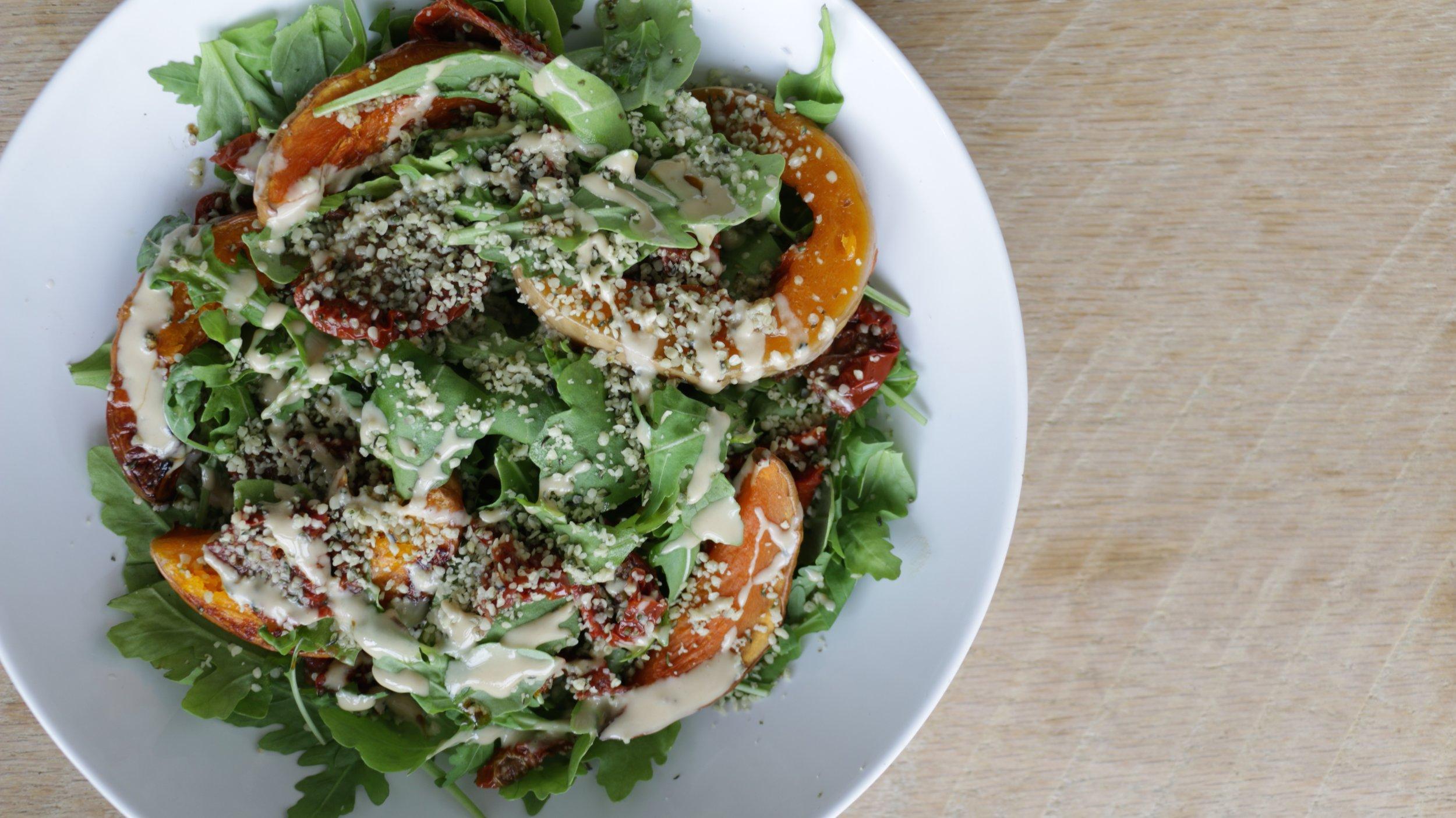 sun-dried tomato & roasted squash salad