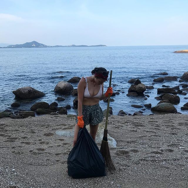 Just 30 minutes cleaning the tiny beach here today and I'm lost for words. There were bags and bags of rubbish, once tossed in the ocean and now lodged between rocks and littering the beach. I was expecting the plastic bottles, I was expecting lots of things but I was totally ignorant to the extent of the polystyrene that kept on coming and coming. I've never felt so much as though I was fighting a loosing battle but it really has opened my eyes to the scale of the issue even more than before. There really is #notimetowasteinitiative #savetheplanet #saveourocean #plastic #waste #environment #beachclean