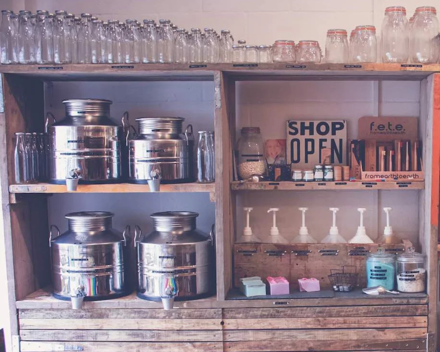 refill store - truro - Bringing zero waste shopping to the beautiful little town or Truro in Cornwall is Refill Store. It was opened by two Cornish mums who realised how difficult it was to stock up on store cupboard staples and avoid all the unnecessary packaging that comes with it. You can find all your food essentials as well plastic alternative products like reusable bamboo cutlery, beeswax, and storage containers.—where do I find them? Lemon Street Market, Truro TR1 2QD