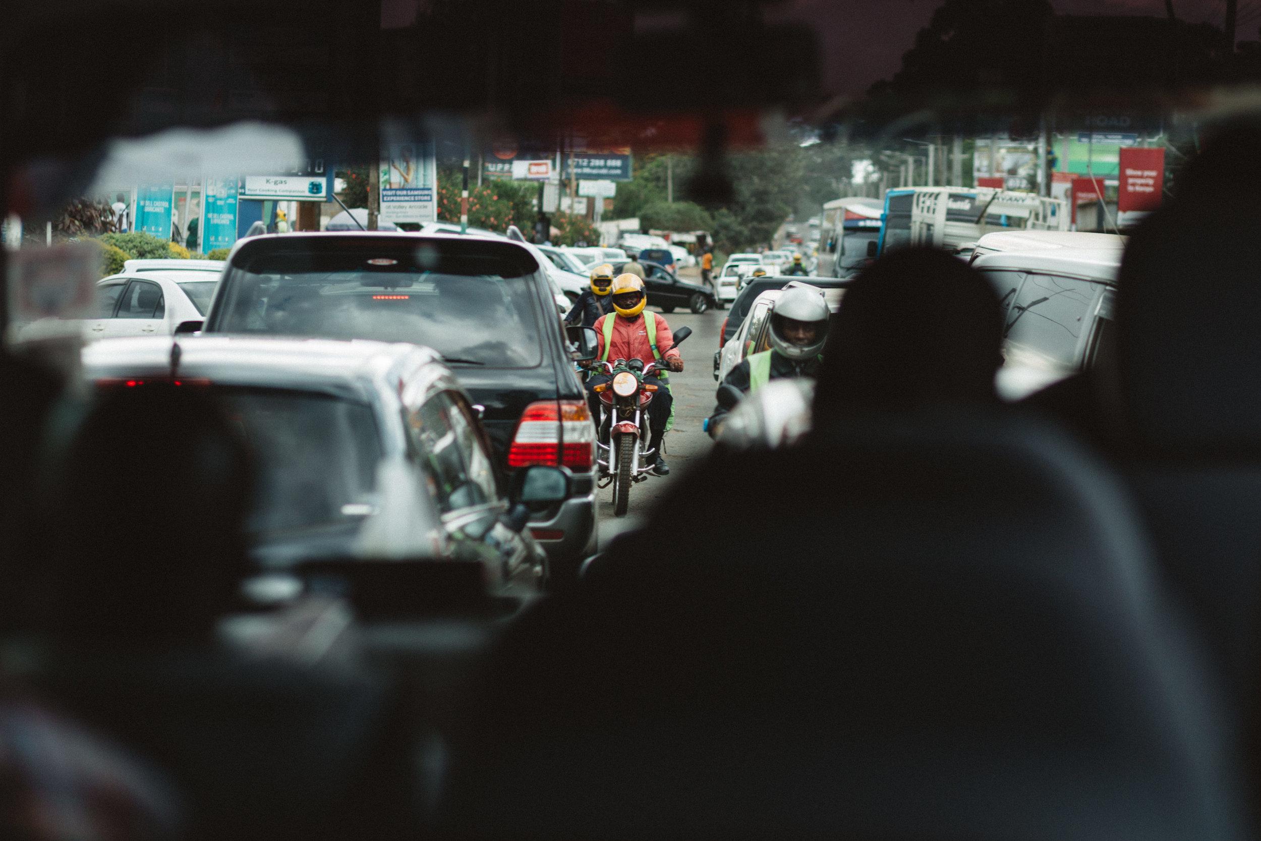 The streets of Nairobi.