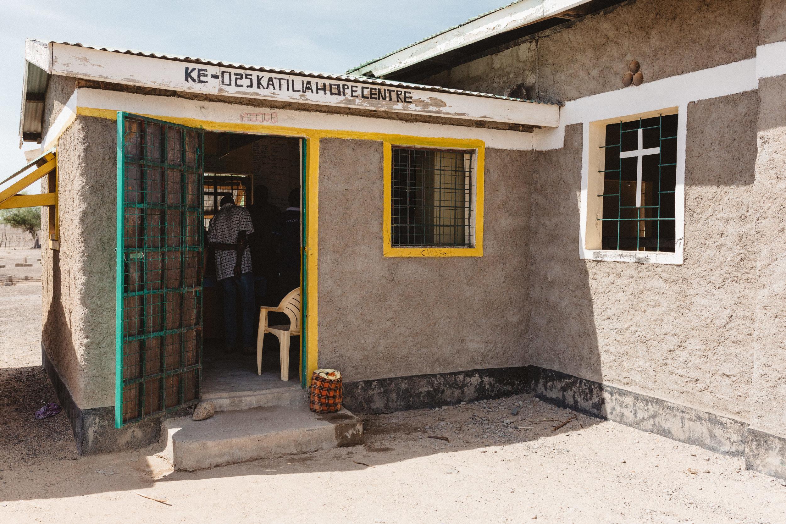 The office for KE-025 Hope Center in Katilia, Turkana.