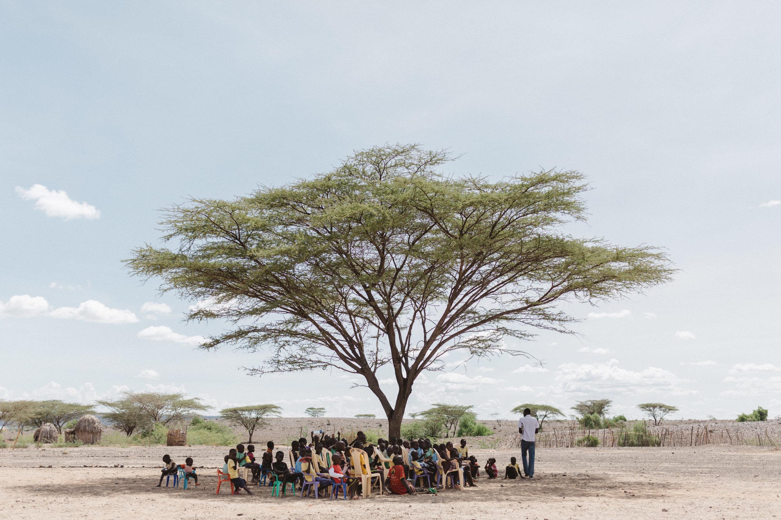 Shade is a precious resource in Turkana.