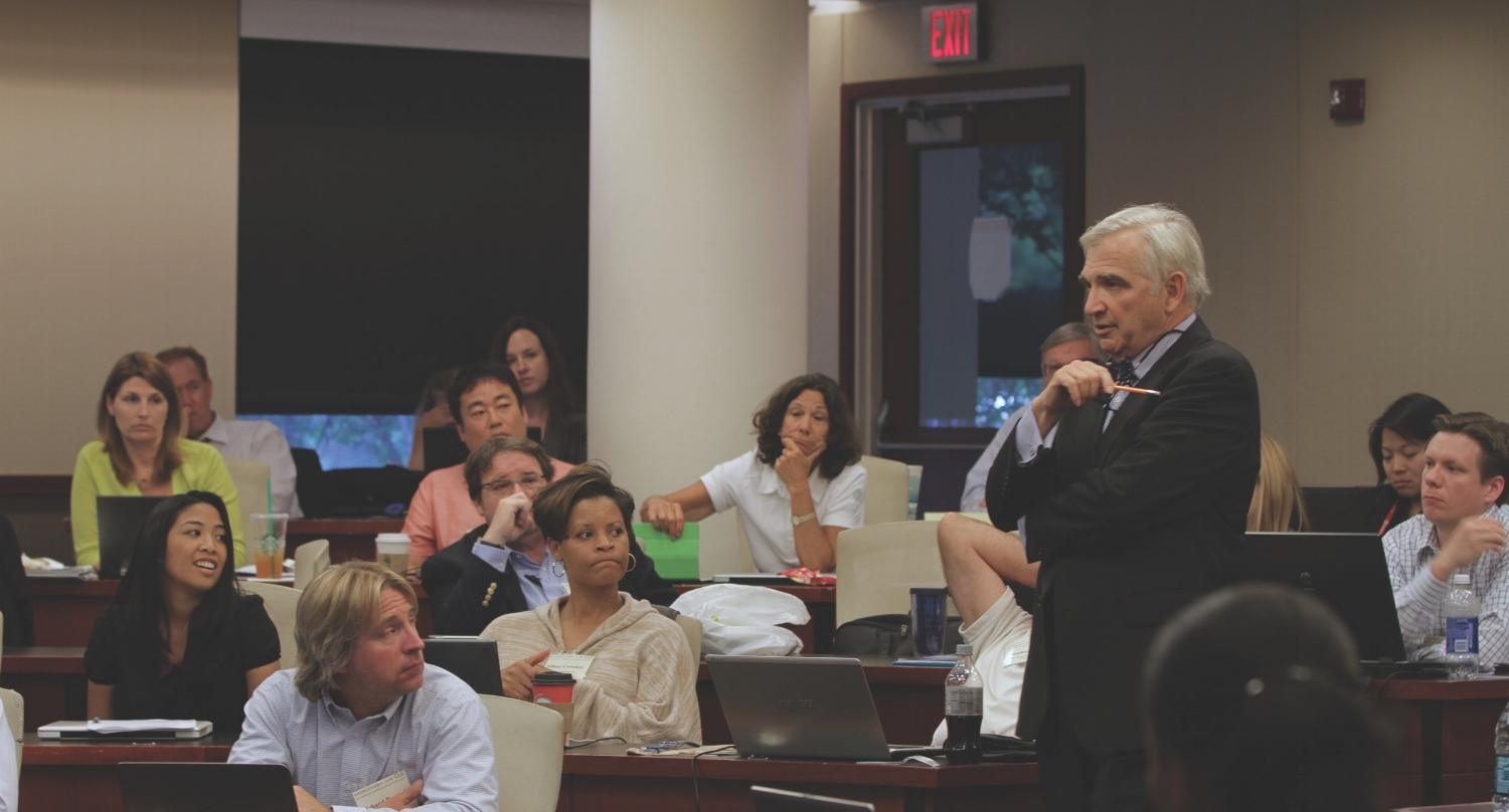 Former U.S. magistrate judge John Facciola, a leading authority on e-discovery, teaches his Georgetown class on Information Technology and Modern Litigation.