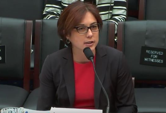 Georgetown's Laura Moy testifies before the House Energy & Commerce Committee