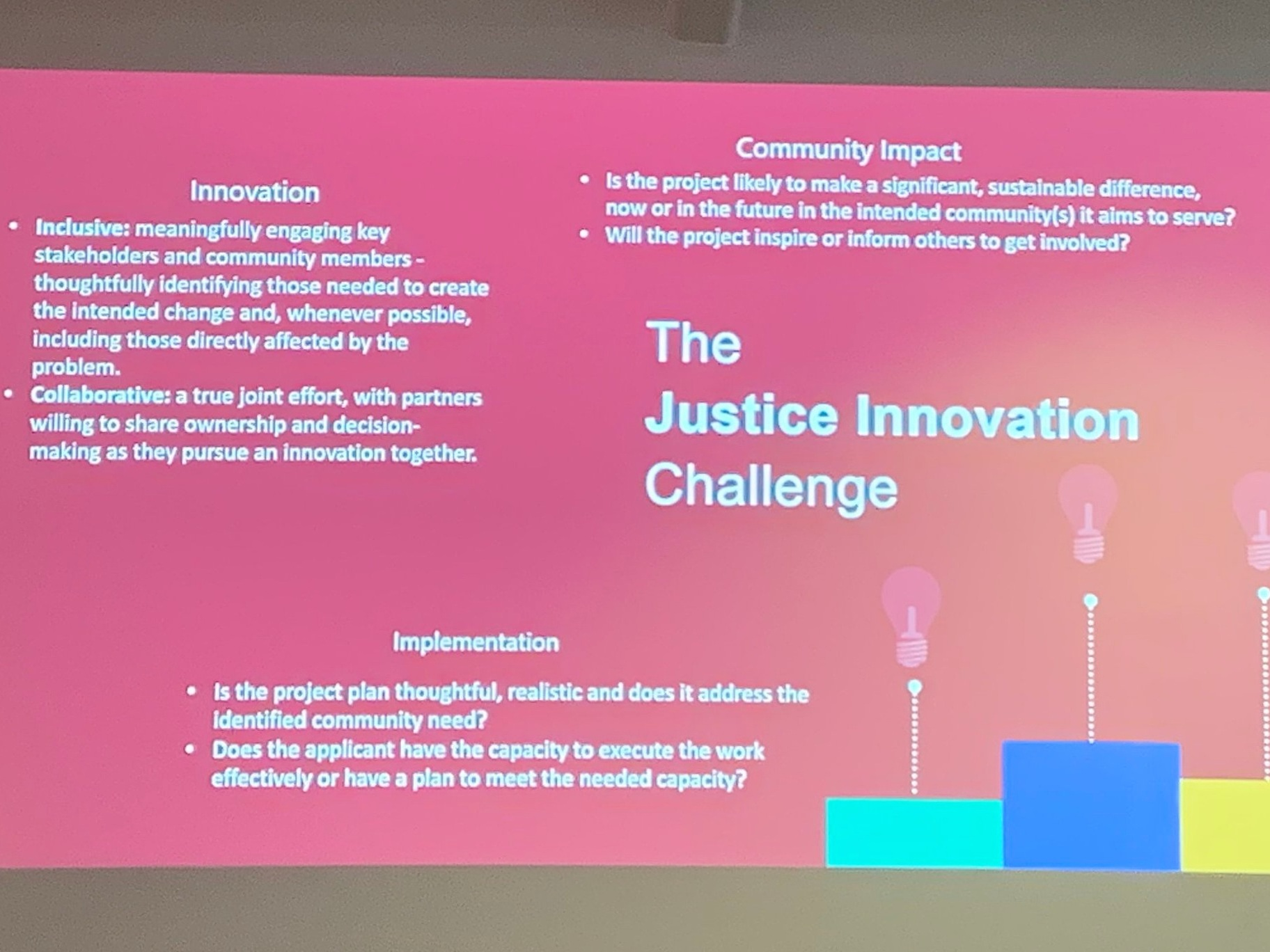Slide showing Challenge overview