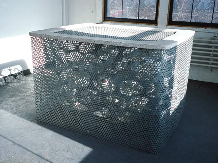 Chinese Well, 2001   , hot dipped galvanized mild steel & cast concrete,  44.5 x 66.5 x 54.5 inches / 113 x 168.9 x 138.4 cm