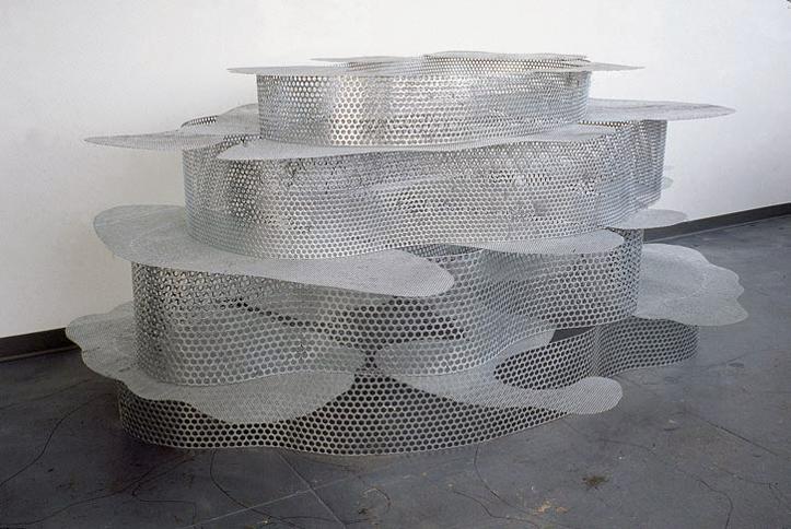 Evaporative Landscape, 2002   , welded, hot dipped galvanized mild steel,  60 x 120 x 90 inches / 152.4 x 304.8 x 228.6 cm