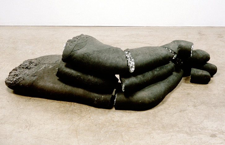 Nubian Night, 1990,   painted cast concrete in 10 pieces, 15 x 60 x 22 inches / 38.1 x 152.4 x 55.9 cm