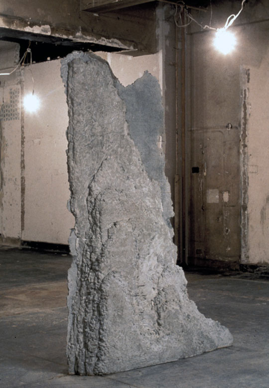 Chinese Landscape, 1991,   poured concrete, 95 x 66 x 16 inches / 241.3 x 167.6 x 40.6 cm