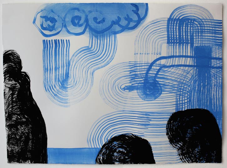 Untitled-11/001, 2011,   gouache on paper, 22 x 30 inches / 55.9 x 76.2 cm
