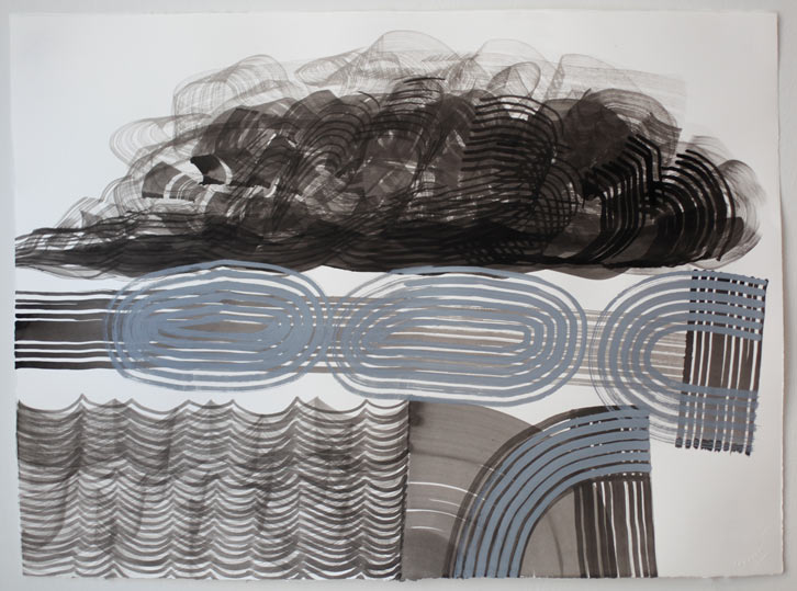 Untitled-11/002, 2011, gouache on paper, 22 x 30 inches / 55.9 x 76.2 cm