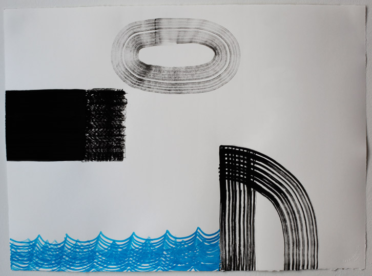 Untitled-11/003, 2011,   gouache on paper, 22 x 30 inches / 55.9 x 76.2 cm