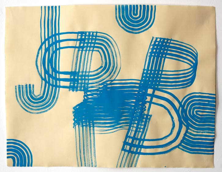 Untitled-11/004 (Jobs), 2011,   gouache on paper, 19 x 24.5 inches /48.3 x 62.2 cm