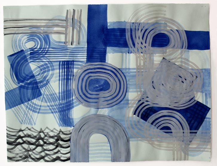 Untitled-11/005, 2011,   gouache on paper, 19 x 24.5 inches / 48.3 x 62.2 cm