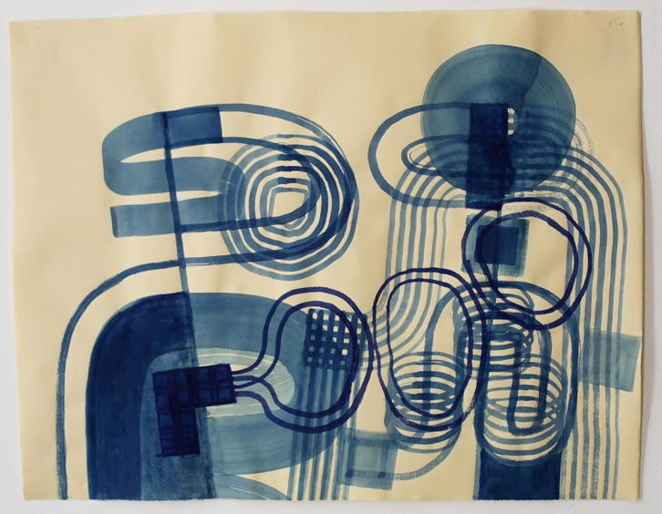 Untitled-11/006, 2011,   gouache on paper, 19 x 24.5 inches /48.3 x 62.2 cm
