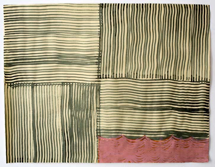 Untitled-11/007, 2011,   gouache on paper, 19 x 24.5 inches /48.3 x 62.2 cm