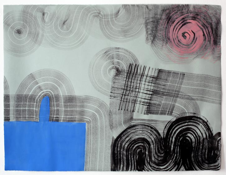Untitled-11/008, 2011,   gouache on paper, 19 x 24.5 inches /48.3 x 62.2 cm