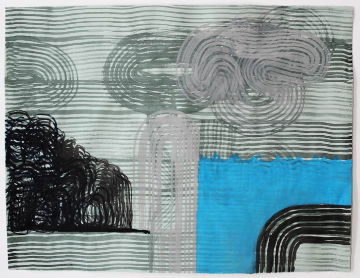 Untitled-11/009, 2011,   gouache on paper, 19 x 24.5 inches / 48.3 x 62.2 cm