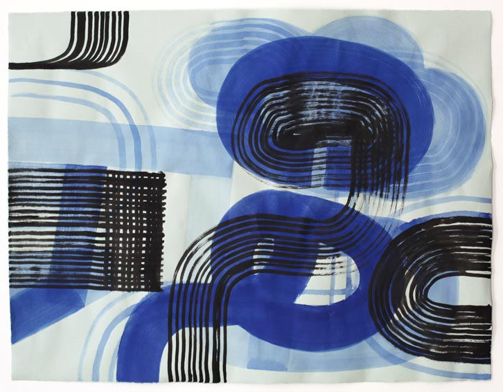 Untitled-11/010, 2011,   gouache on paper, 19 x 24.5 inches /48.3 x 62.2 cm