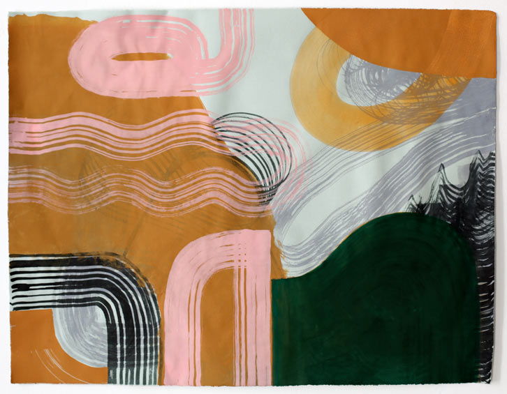 Untitled-11/011     , 2011,   gouache on paper, 19 x 24.5 inches /  48.3 x 62.2 cm