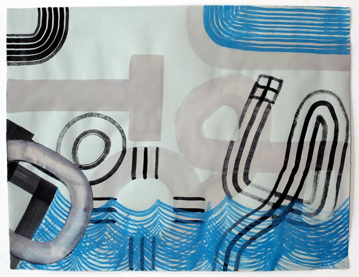 Untitled-11/012, 2011,   gouache on paper, 19 x 24.5 inches /48.3 x 62.2 cm