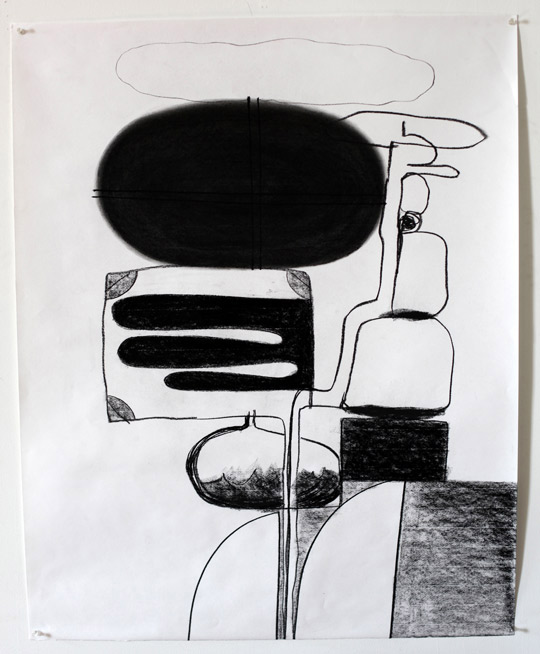 Untitled Charcoal-11/410, 2011,   charcoal on paper, 42.5 x 34 inches / 108 x 86.4 cm