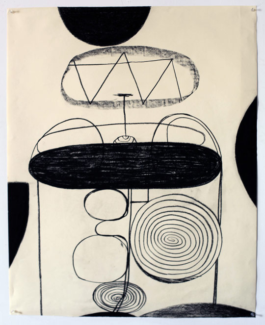 Untitled Charcoal-11/411, 2011, charcoal on paper, 42.5 x 34 inches / 108 x 86.4 cm