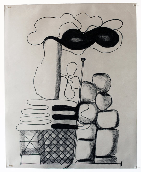 Untitled Charcoal-11/412, 2011,   charcoal on paper, 42.5 x 34 inches / 108 x 86.4 cm