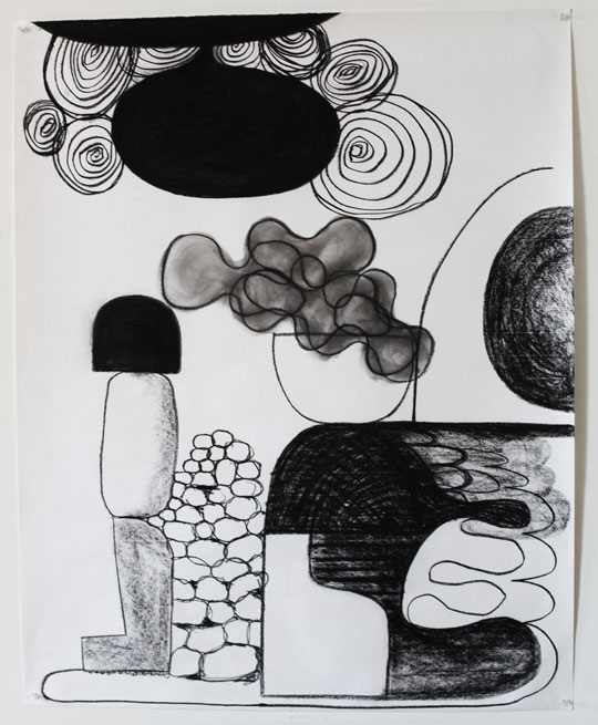 Untitled Charcoal-11/413, 2011,   charcoal on paper, 42.5 x 34 inches / 108 x 86.4 cm