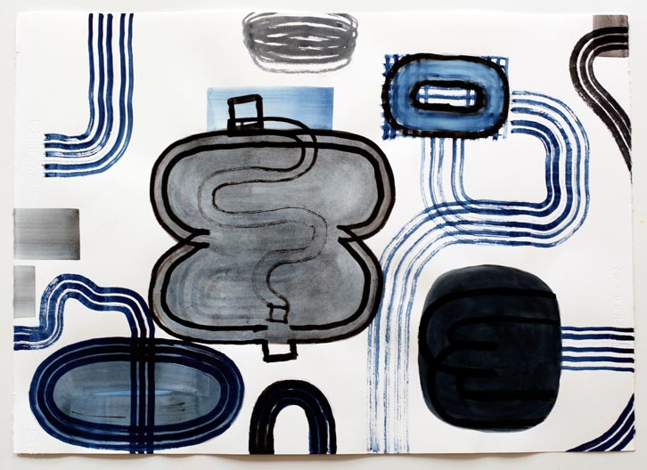 Untitled-10/008, 2010,   gouache on paper, 22 x 30 inches / 55.9 x 76.2 cm