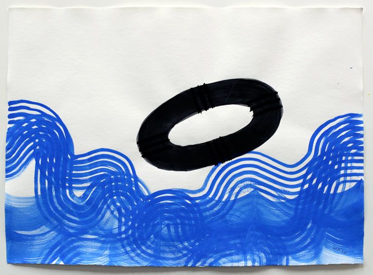 Untitled-10/009, 2010,   gouache on paper, 16.5 x 23 inches / 41.9 x 58.4 cm