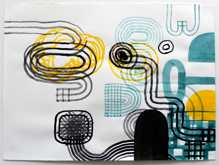Untitled-10/015, 2010,   gouache on paper, 22 x 30 inches / 55.9 x 76.2 cm