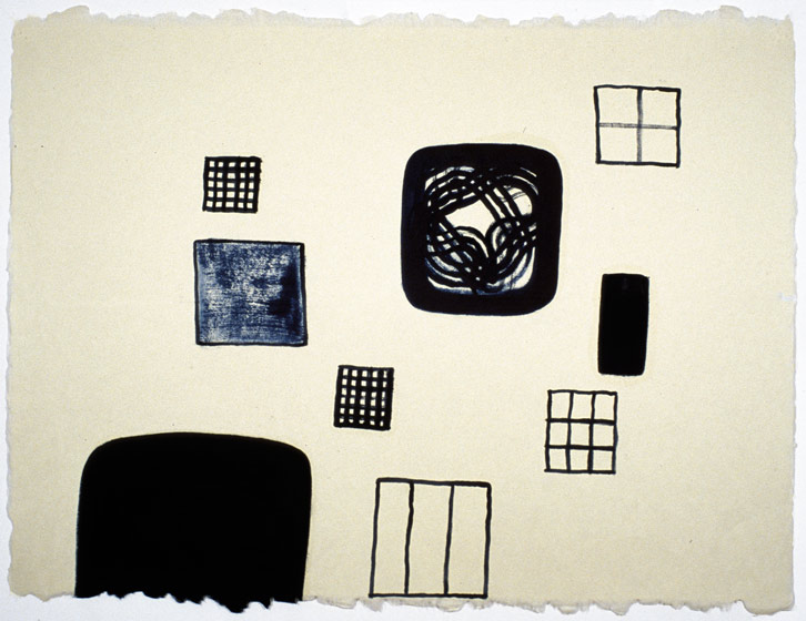 Block Group-008 (room), 2002,   oil on Japanese paper, 26.5 x 35 inches / 67.3 x 88.9 cm